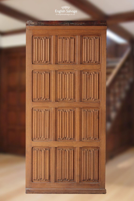 Antique Wood Paneling: Antique Oak Linenfold Panelling