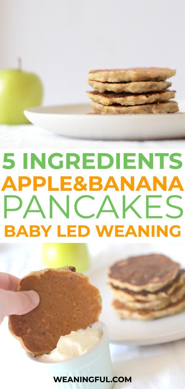 Banana and apple pancakes (for baby led weaning) - WEANINGFUL