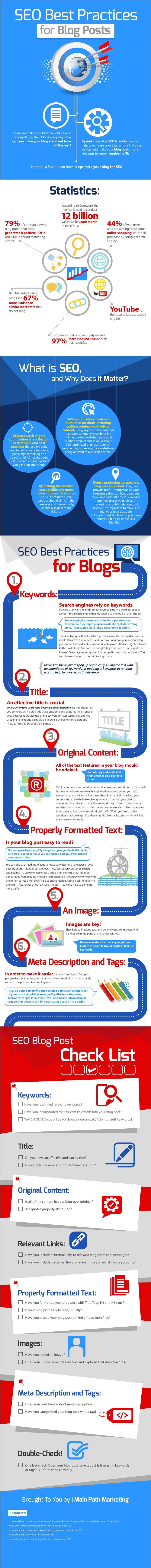 SEO Best Practices for Blog Posts #infographic