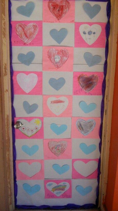 Puerta kinder 2 colegio biling e crece san valentin for Decoracion san valentin pinterest
