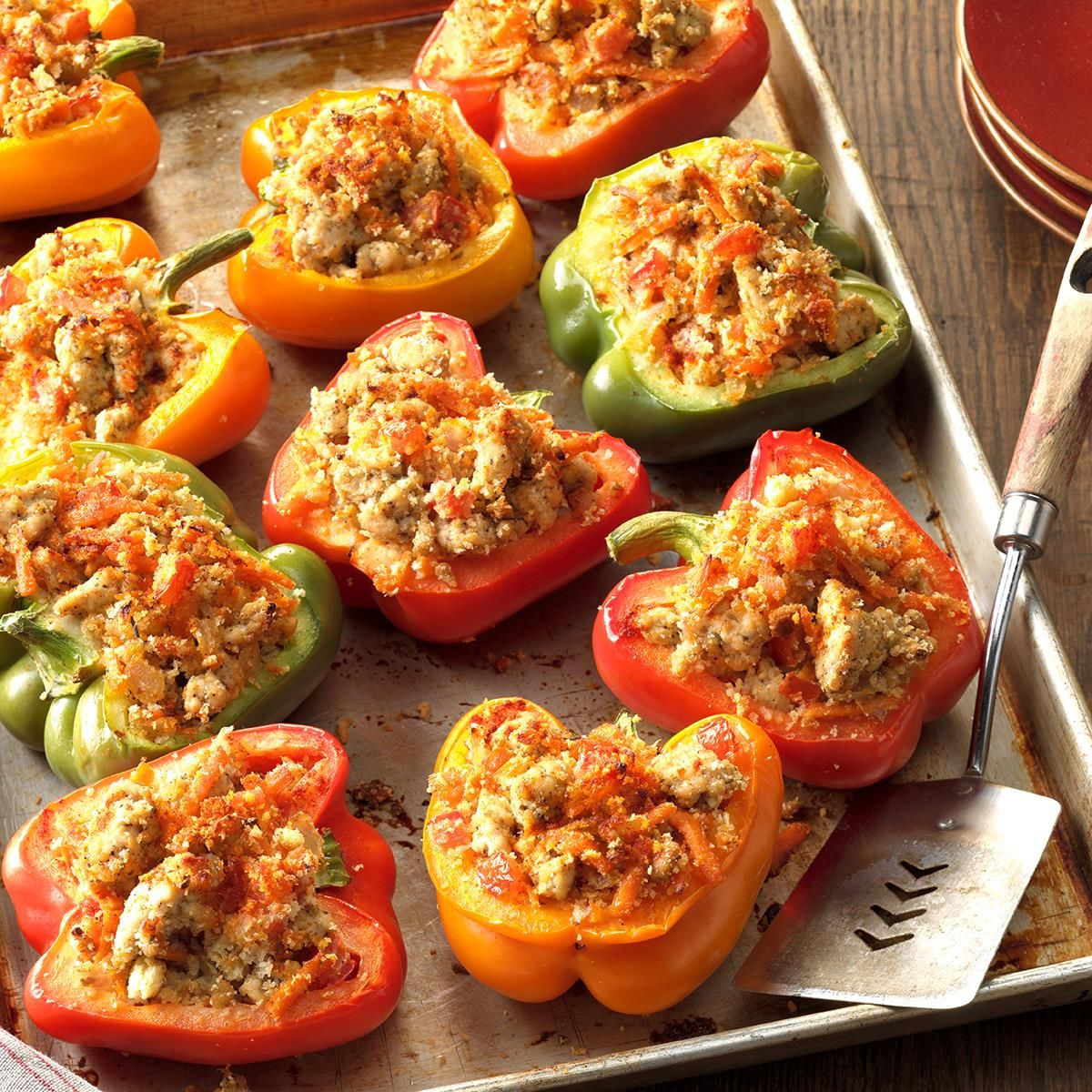 Turkey Stuffed Bell Peppers Recipe Stuffed Peppers Peppers Recipes Stuffed Peppers Turkey