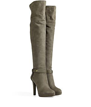 Reach new heights of sultry style with these over-the-knee suede boots by Sergio Rossi #Stylebop