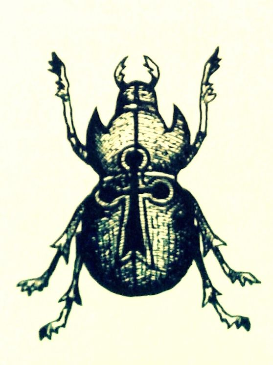 Russian Criminal Tattoo Scarab As Symbol For Good Luck Tatts