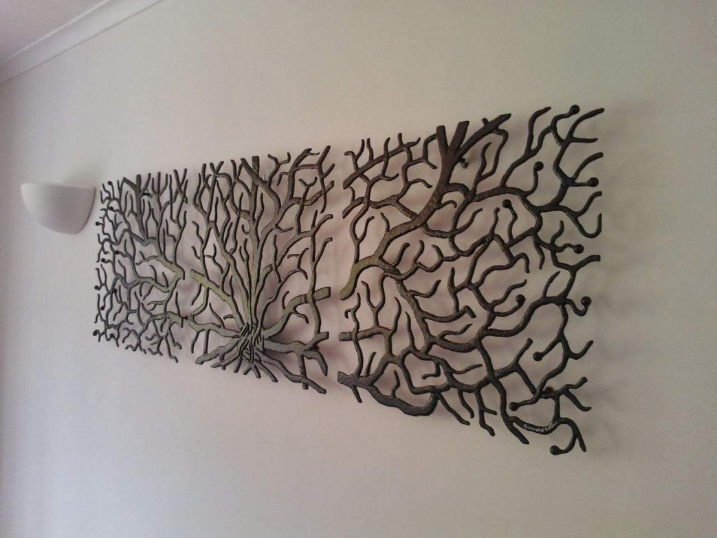 Arbre Mural Metal Deco Murale En Bois Decoration Porte Manteau Genealogique Fer Vie Deco Metal - Décoration Murale Design Fer