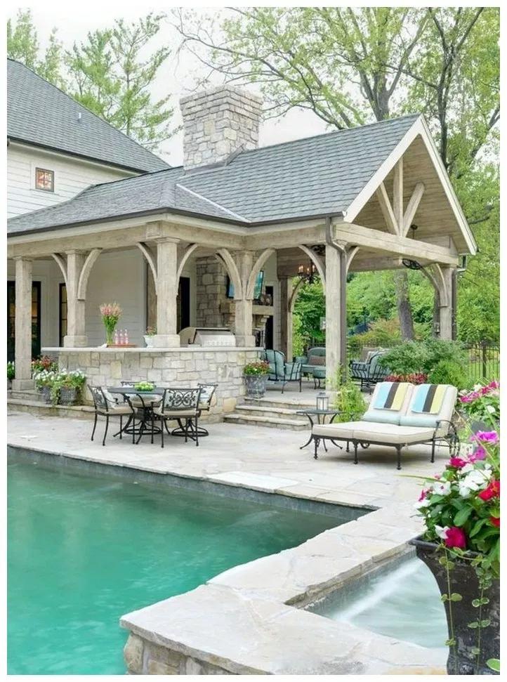 wonderful outdoor kitchen ideas   70 wonderful outdoor patio ideas 60 in 2019   Outdoor ...