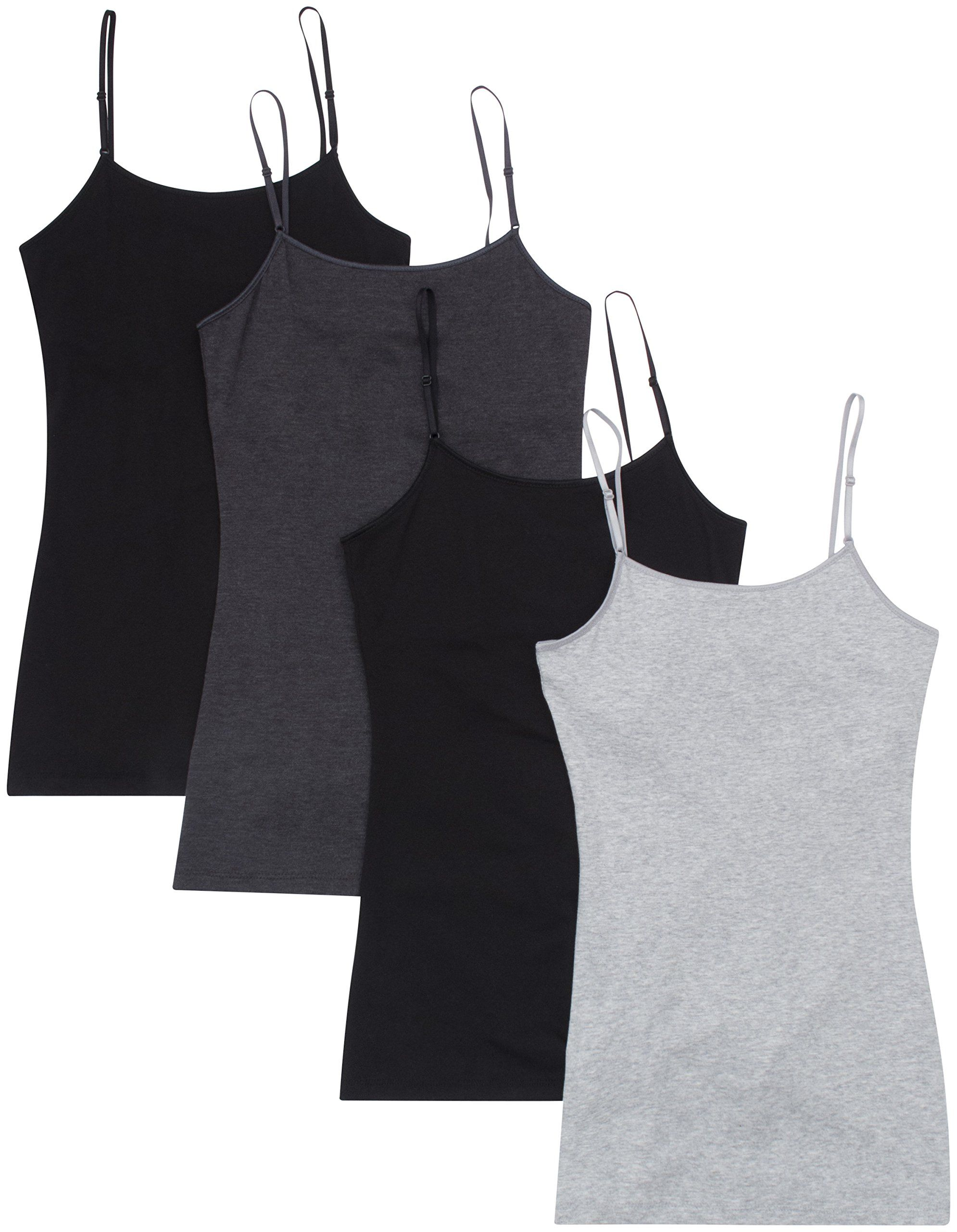 Cami tops Gray built in bra adjustable straps Choice size New Juniors Ladies