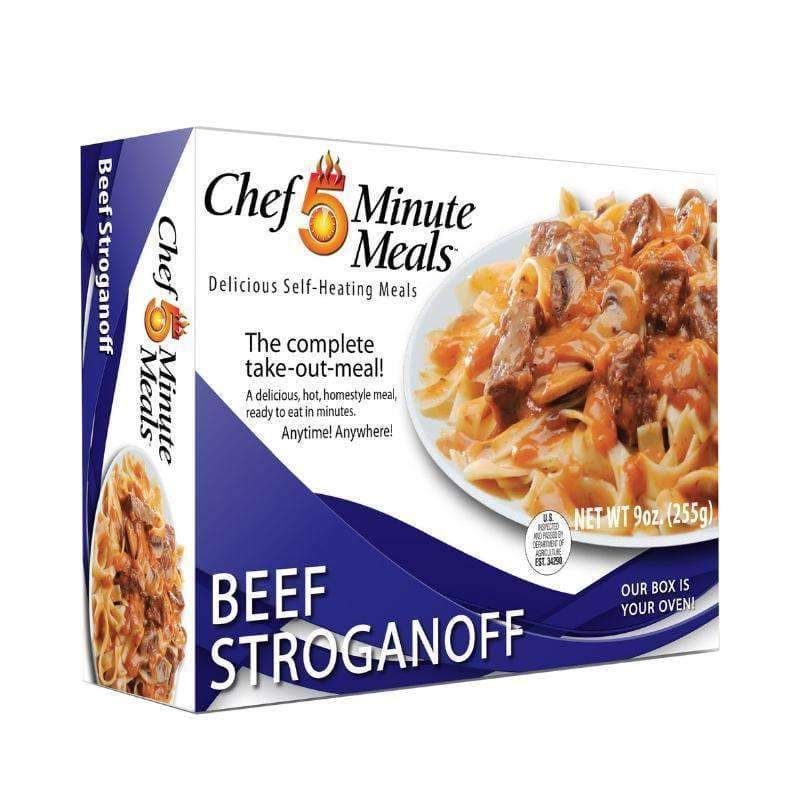 Chef 5 Minute Meals Self-Heating Boxed Meal Kit - Beef Stroganoff