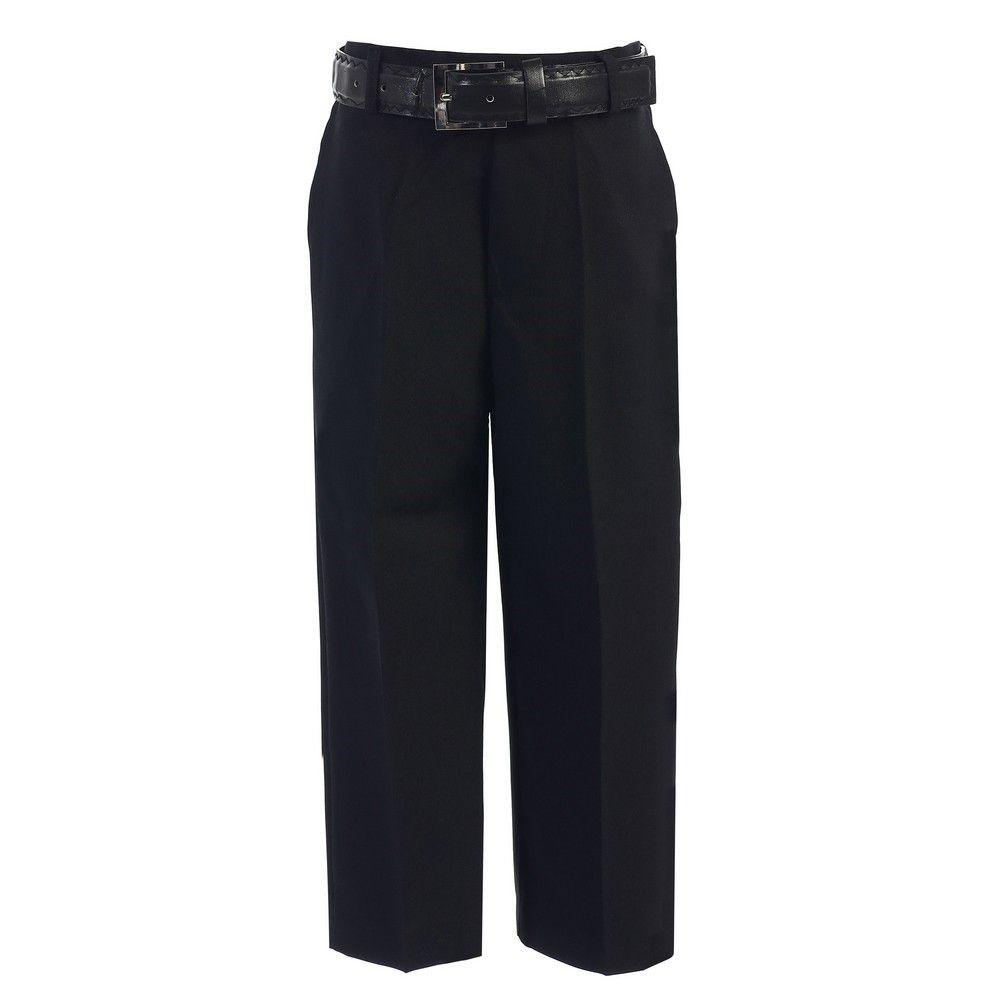Little Boy Dress Pants Black Little Boys Black Flat Front Solid Belt Special Occasion Boys Dress Pants Little Boys Dress Pants Black Flats [ 1001 x 1001 Pixel ]