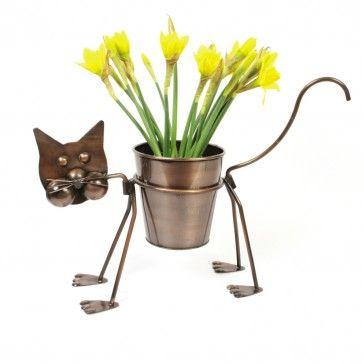 Cat Plant Pot Holder Cats In The Garden Cat Plants Plants