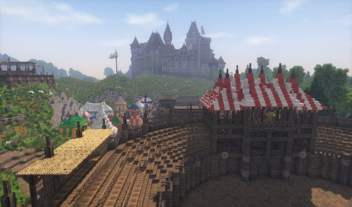 Medieval Tourney Grounds [Conquest Reforged] Minecraft