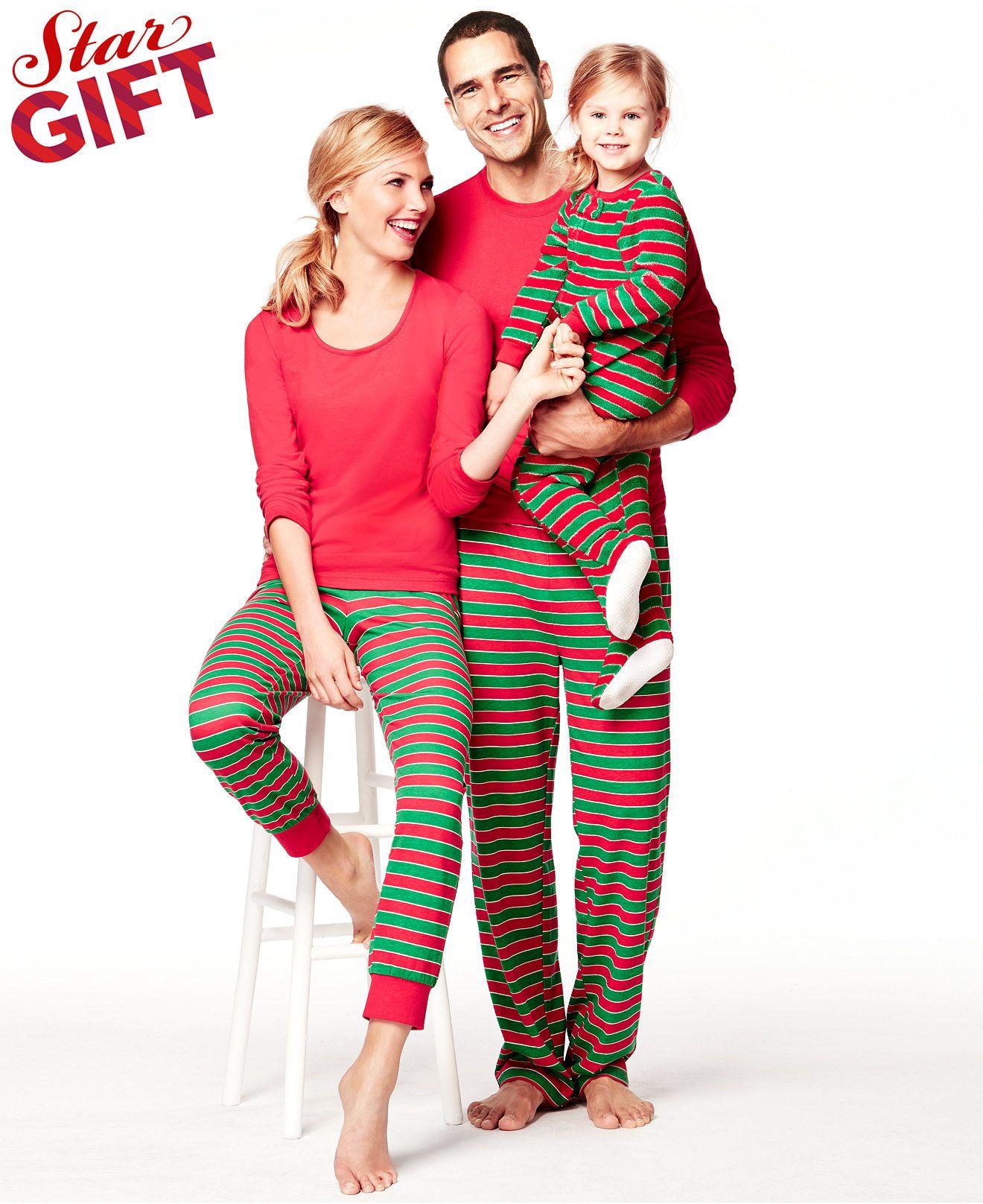 63fb81a016 Family Pajamas Matching Striped Holiday Sets