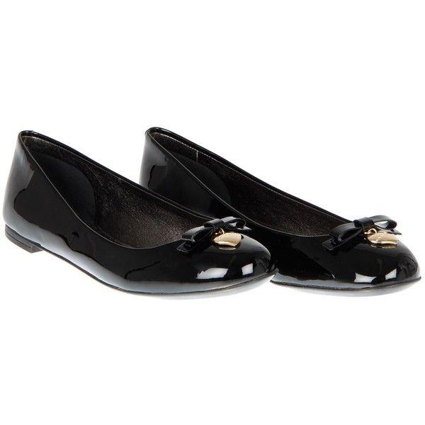 Dolce & Gabbana Black Patent Leather Ballerina Shoes