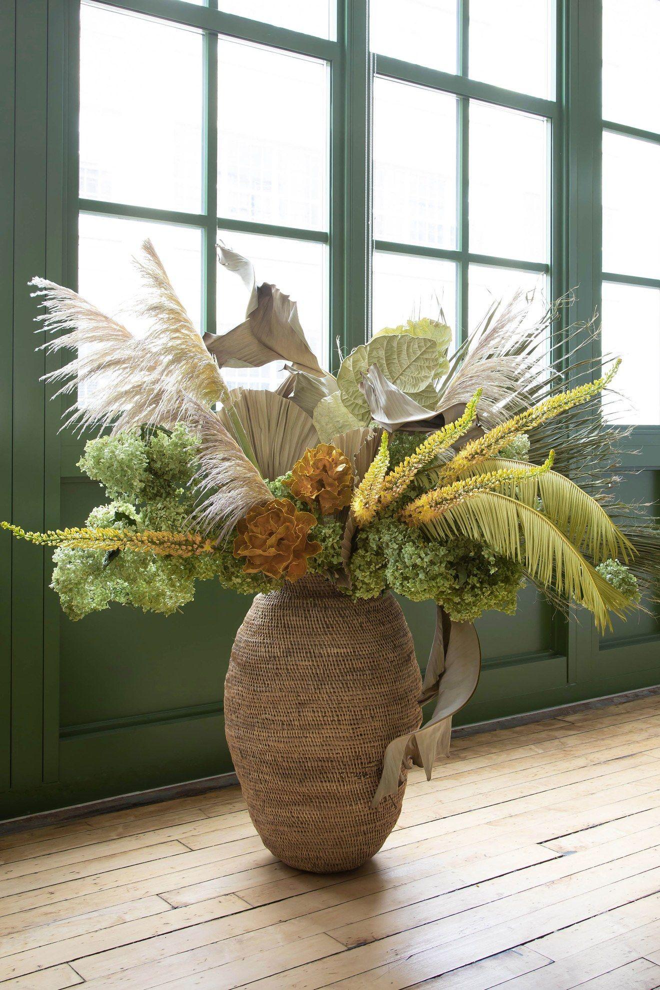 Furniture Fine Louis Fashion Retro Seagrass Weaving Vase Grass Vine Weaving Living Room Decoration Dry Arrangement Flower Online Shop Plant Shelves