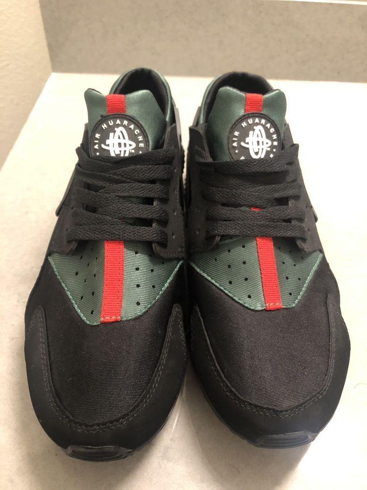 Nike Huarache Custom Black with red and