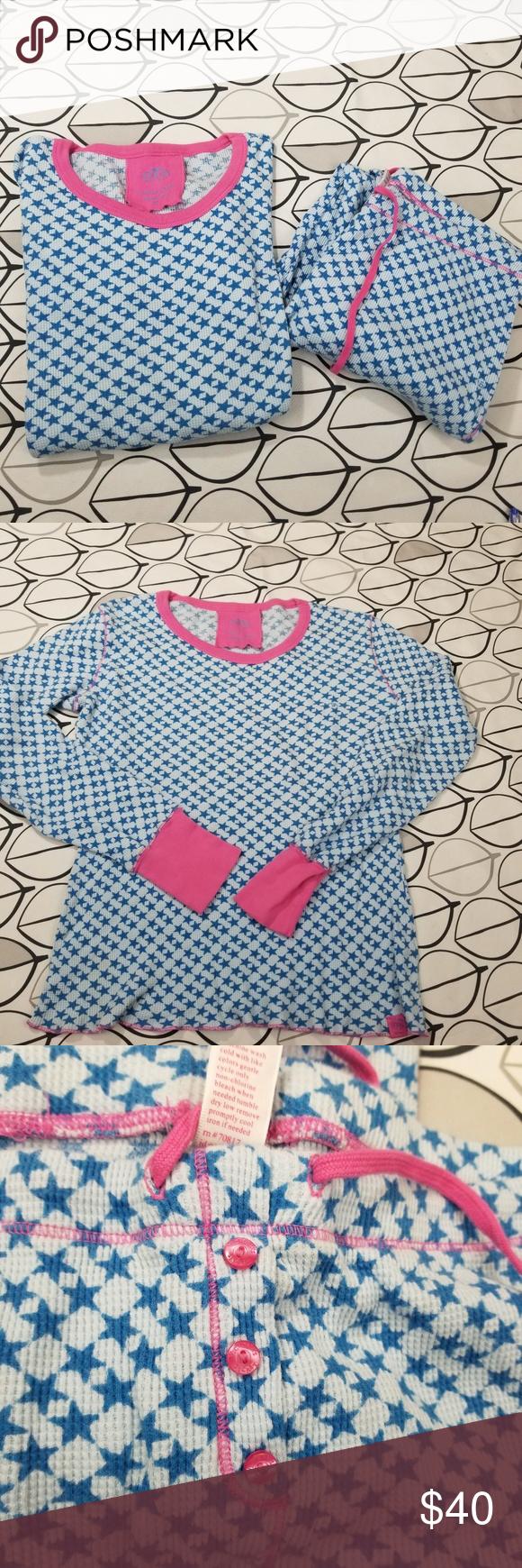 Victoria s Secret Blue Stars Thermal Pajamas Set Victoria s Secret thermal  pajamas sleep set. Size M 63df148d8