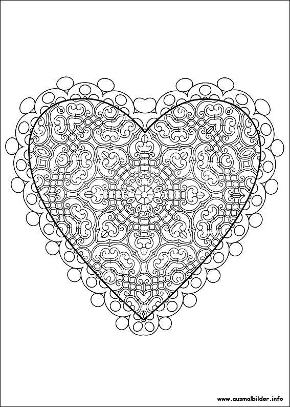 Valentinstag malvorlagen   Coloring Pages, Ausmalbilder   Pinterest ...