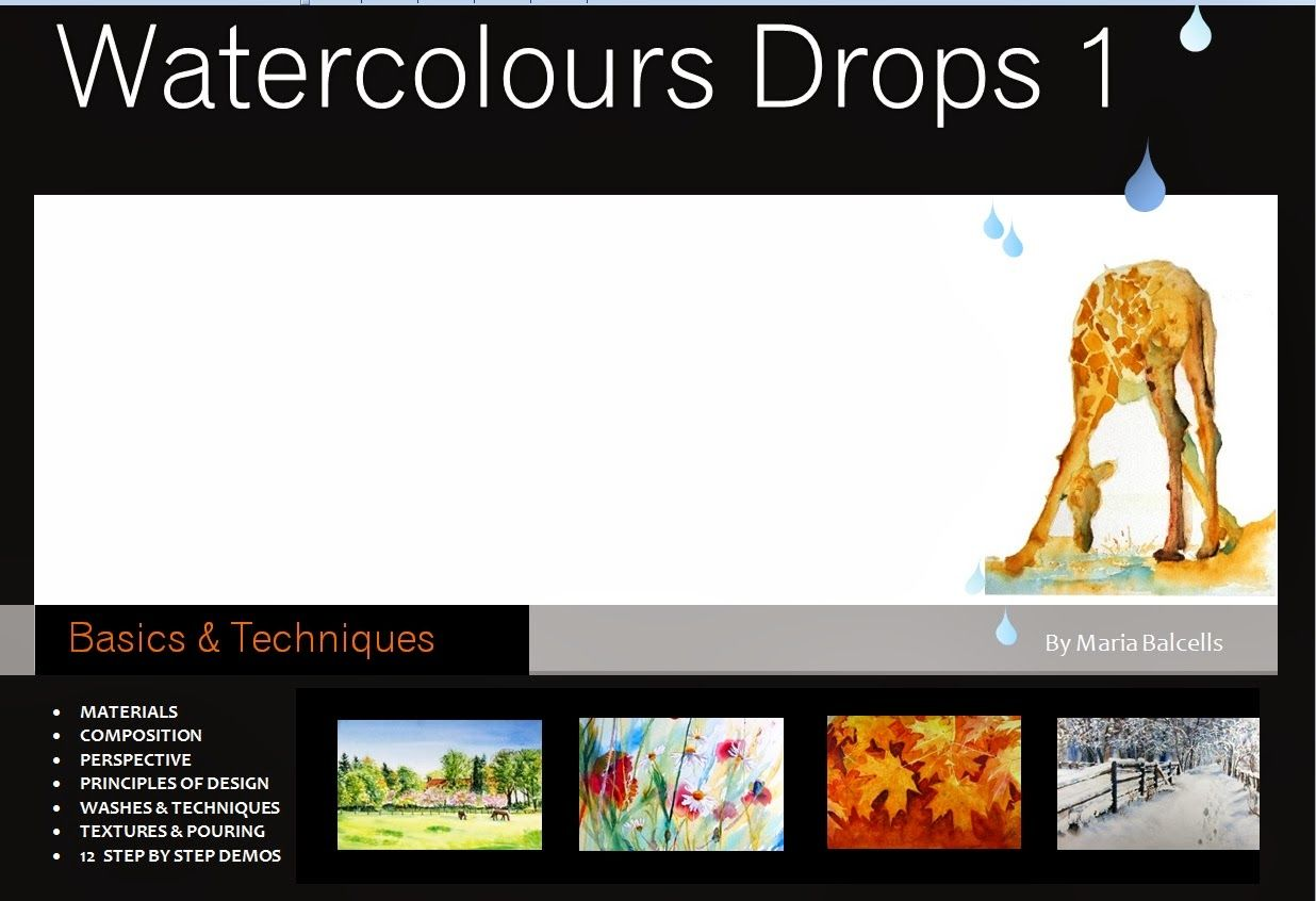 Watercolours Drops 1
