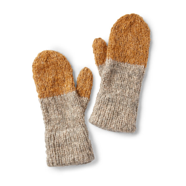 Patons Double Cuffed Knit Mittens | Knitted mittens ...
