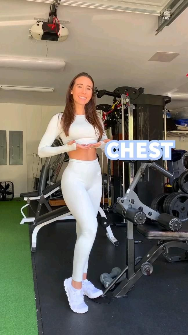 chest workout 😍 get attractive figure instantly with natural exercise 😉
