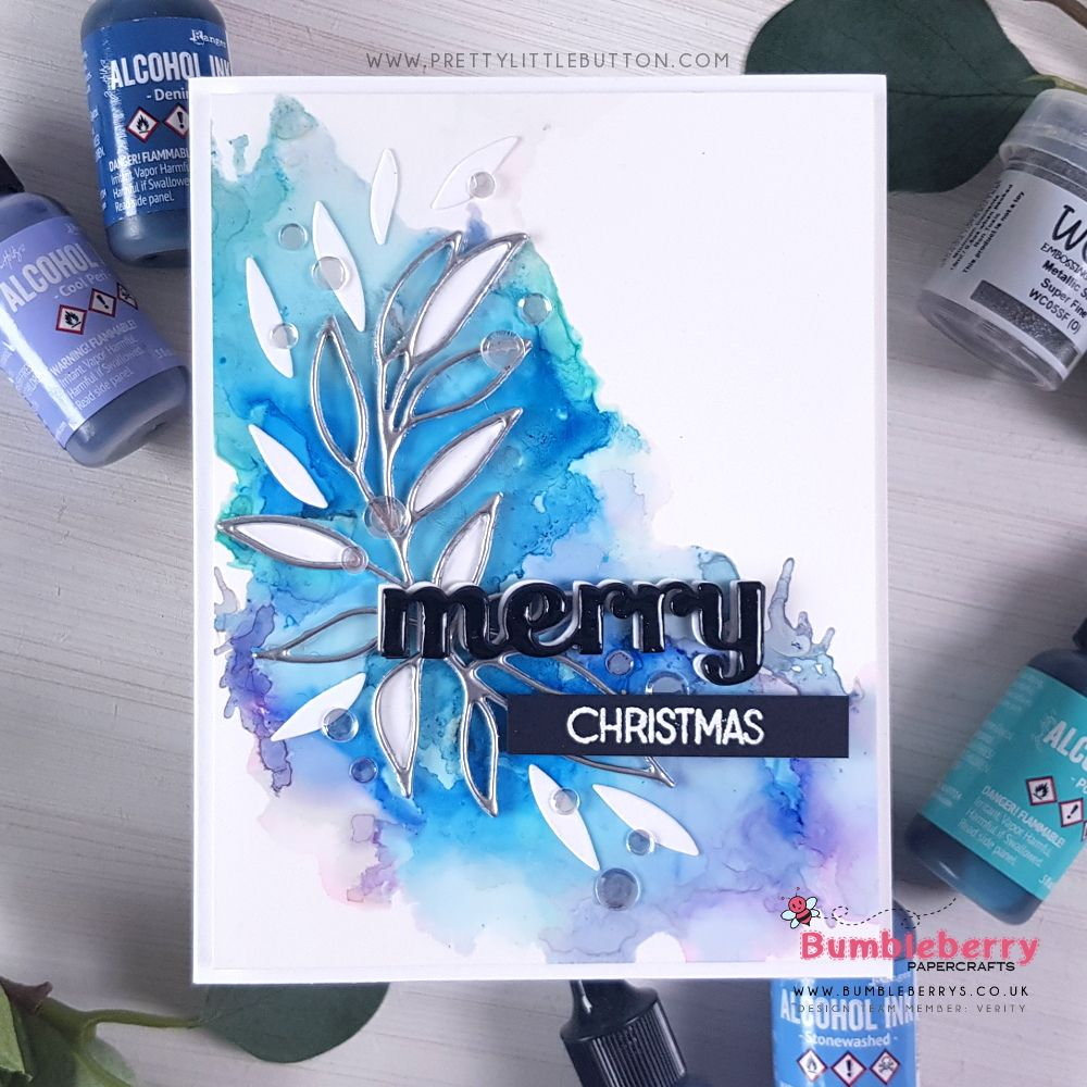 Photo of Alcohol Ink Winter Inspired Background – Pretty Little Button