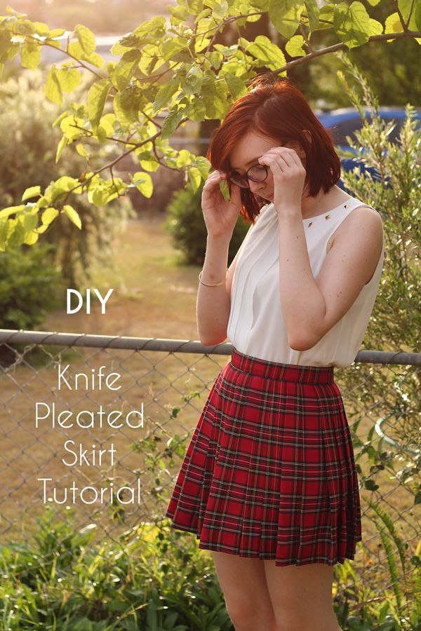 58b9dfd5cb DIY Knife-Pleated Skirt | sew | Skirt patterns sewing, Knife pleated ...