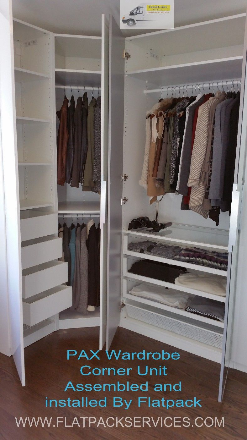 Ikea Pax Corner Wardrobe Article Number 999 060 32 Assembled And