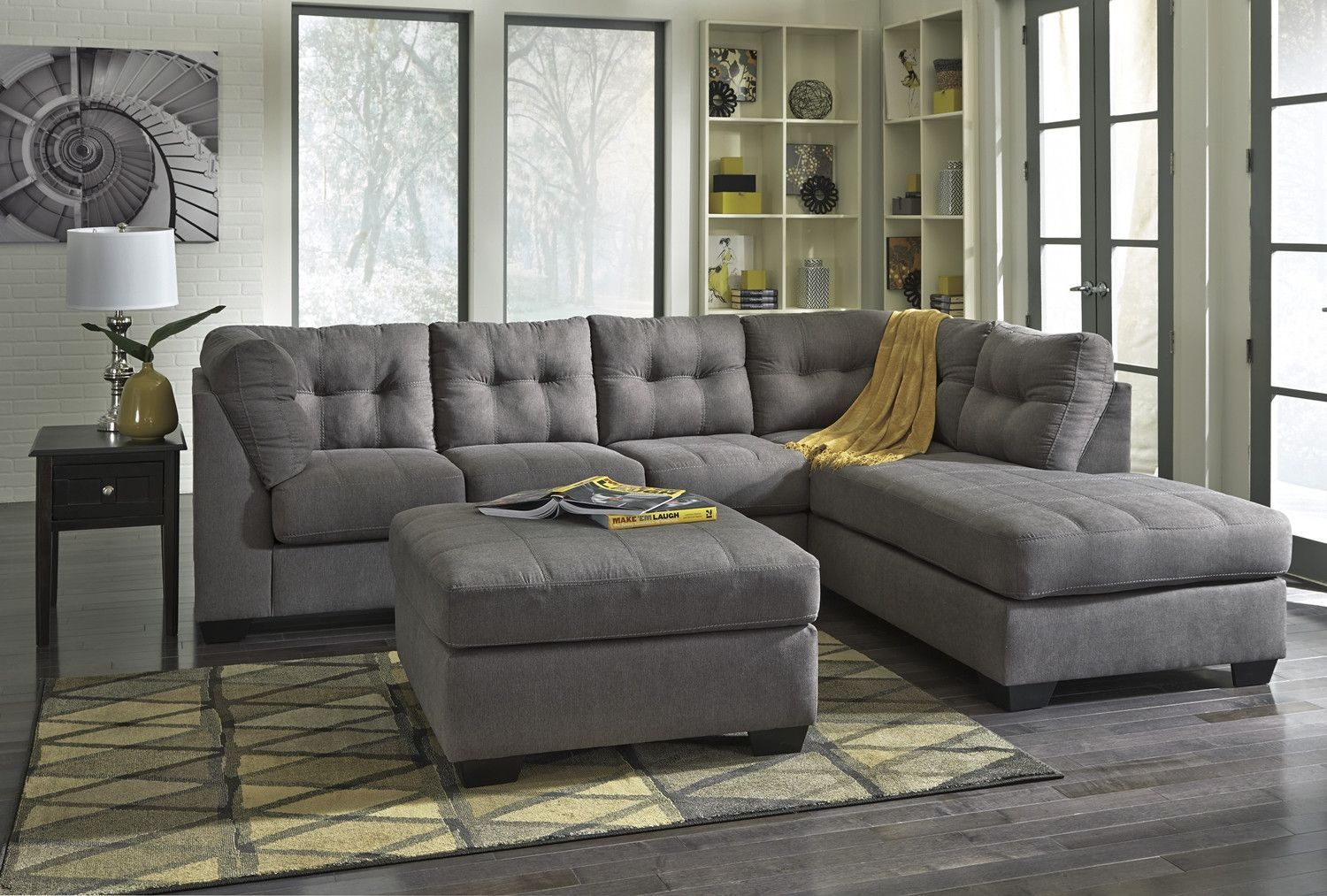 Ashley Furniture · Sectional Frame constructions have been rigorously tested to simulate the home and transportation environments for improved durability. Corners are glued blocked and stapled. Seats