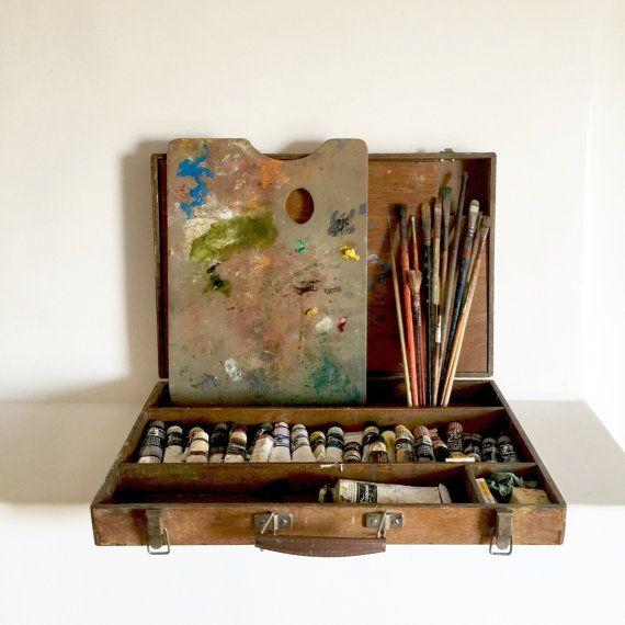 Francais Ancien Kit De Peinture A L Huile Peintres Voyage