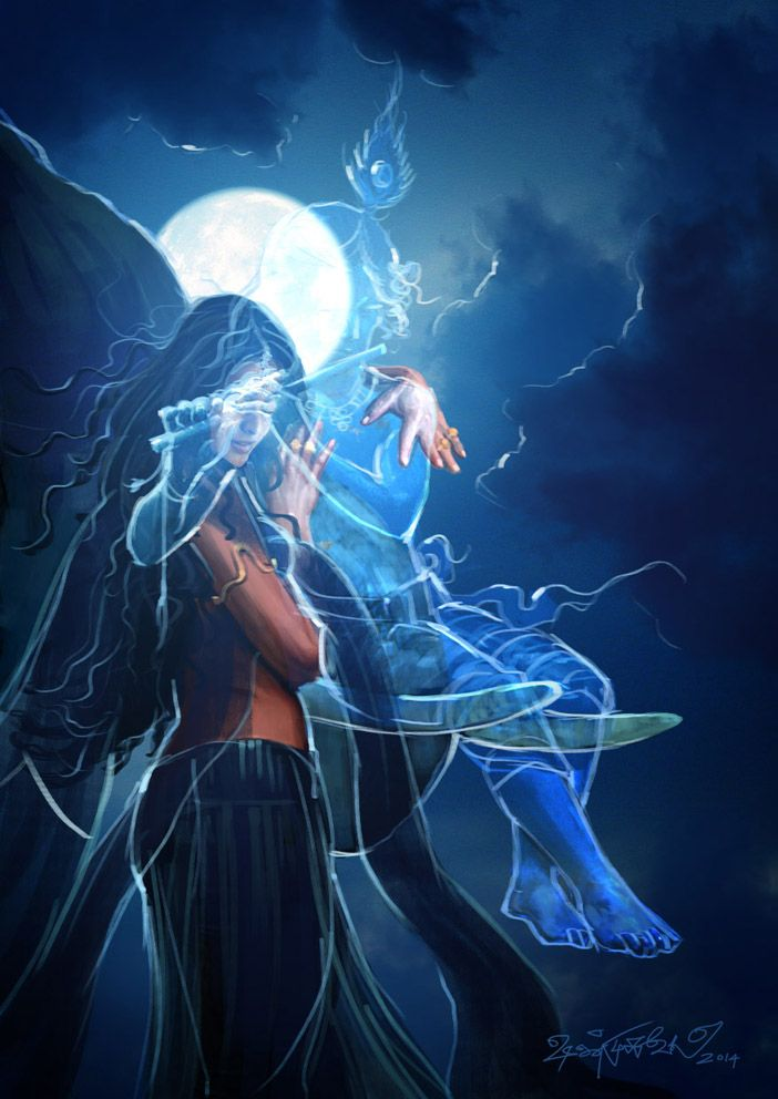 Radha and Krishna - Mahabharatham - The Great Indian Epic