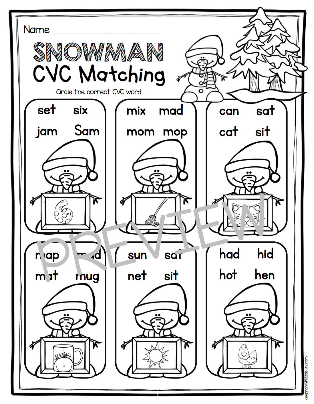 January No Prep Math Amp Literacy Pack
