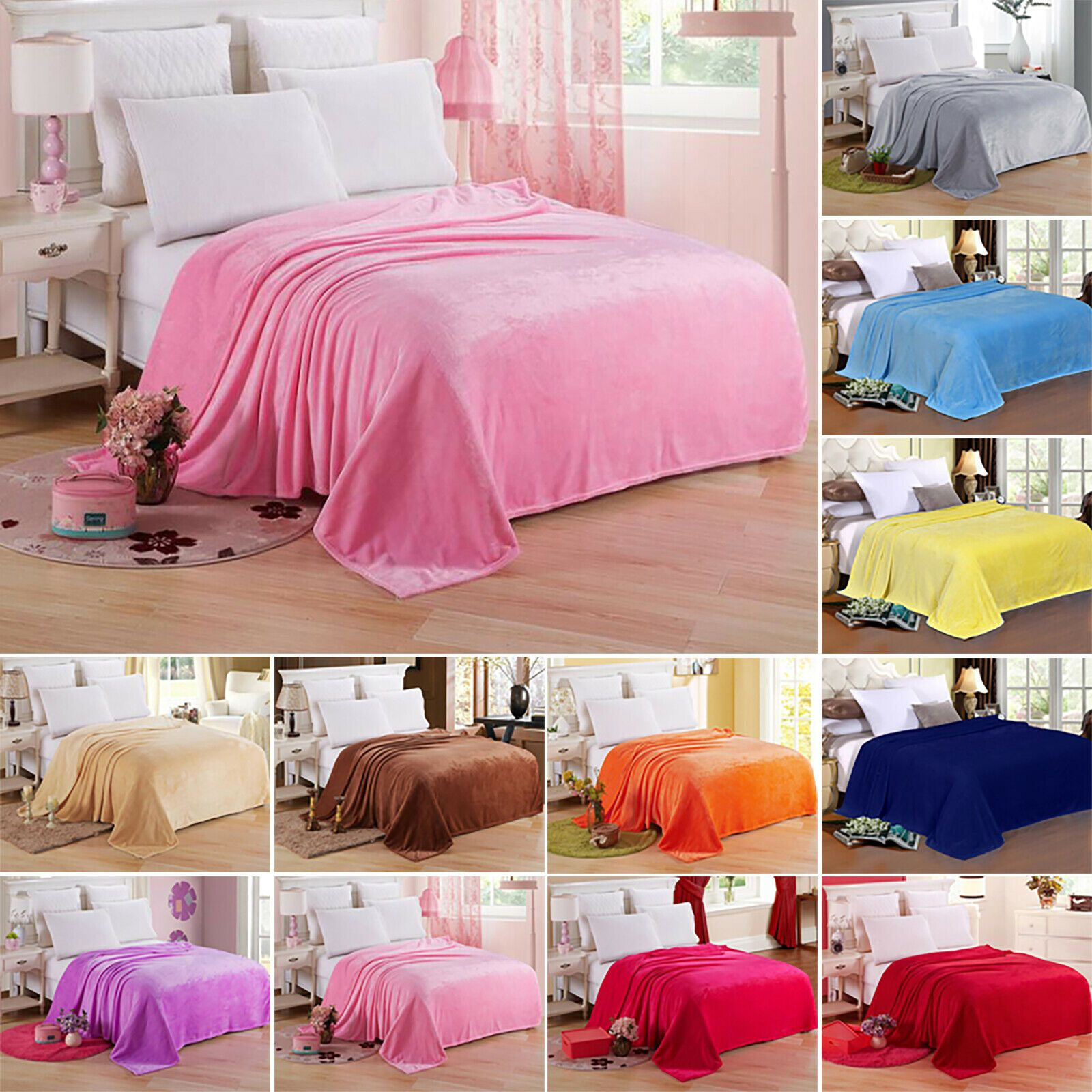 Warm Throw Over Plush Sofa Bed Fleece