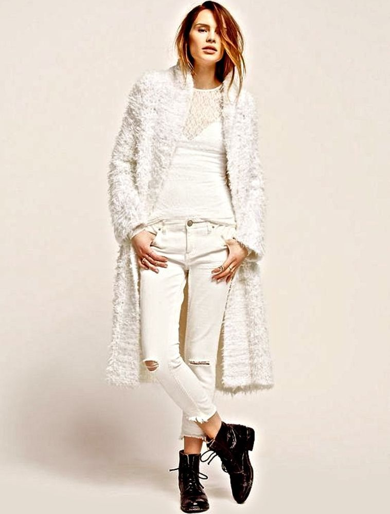 NWT Free People ivory Longing For Cashmere Maxi Cardigan ...