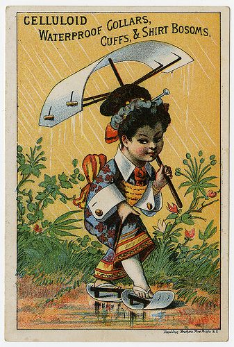 Celluloid clothing accessories advertising card, ca. 1880, Donaldon Brothers by Chemical Heritage Foundation, via Flickr