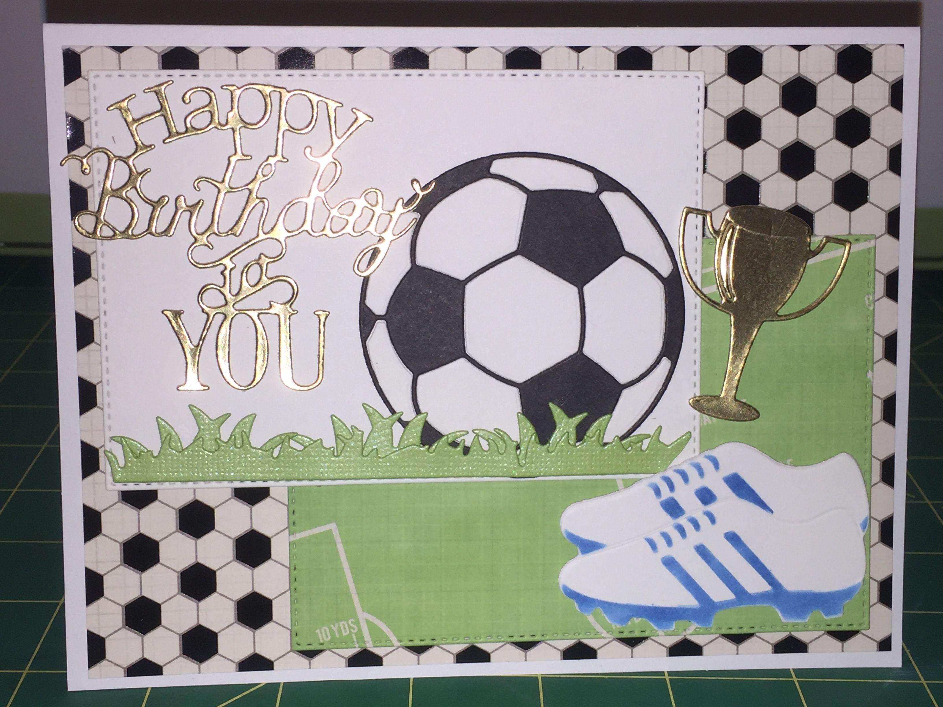 Soccer Birthday Card Unbranded Dies Birthday Cards For Men Girl Birthday Cards Birthday Cards