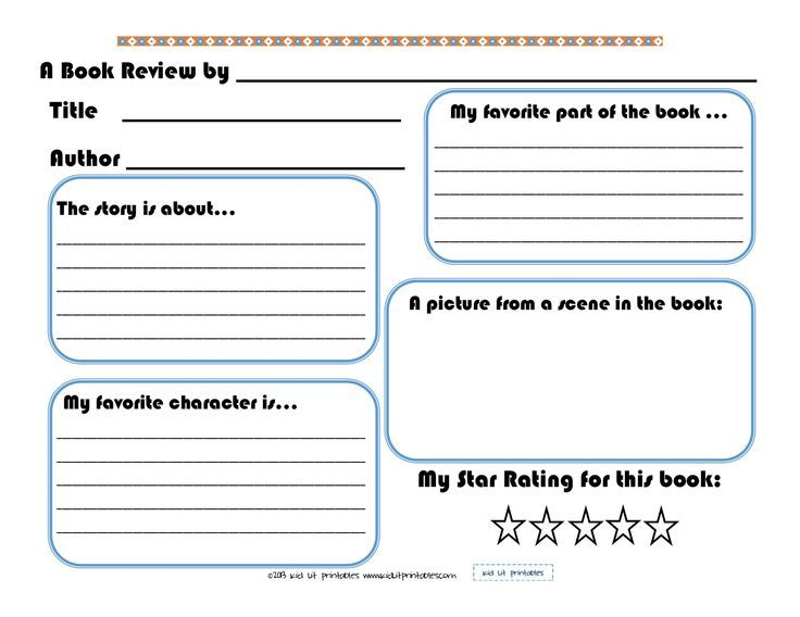 Image Result For Book Report Template Free Printable