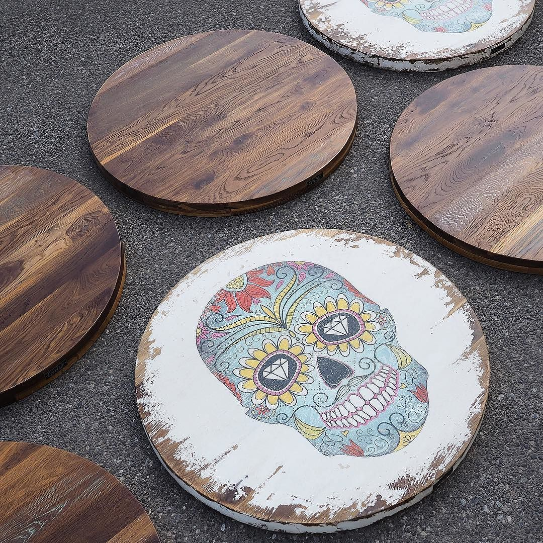 Mexican Restaurant Table Tops Mexicanskull Table  # Muebles Taco Tenerife