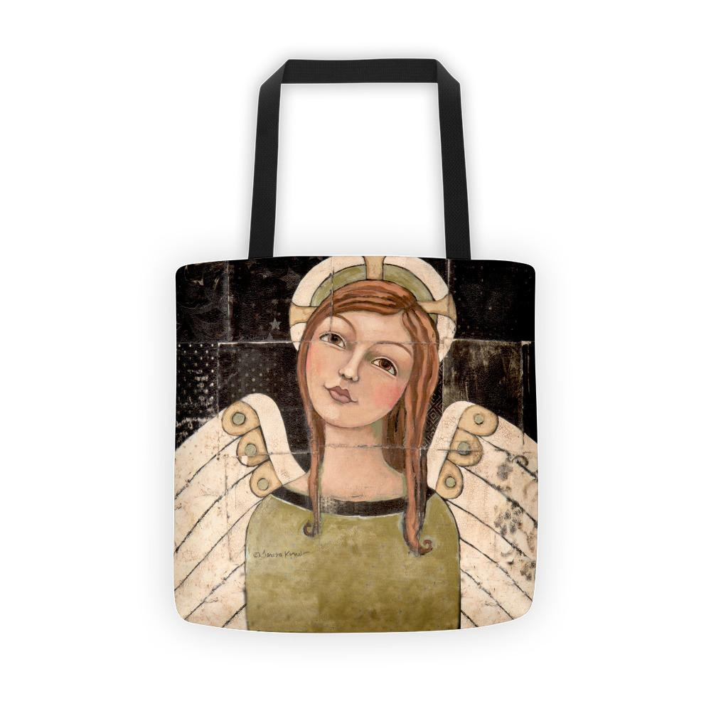 Content Tote bag by Creative Whims. Designed by Teresa Kogut #angel #tote #totebag #creativewhims