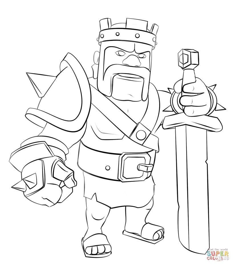 clans of clans personajes para colorear - Buscar con Google   king ...
