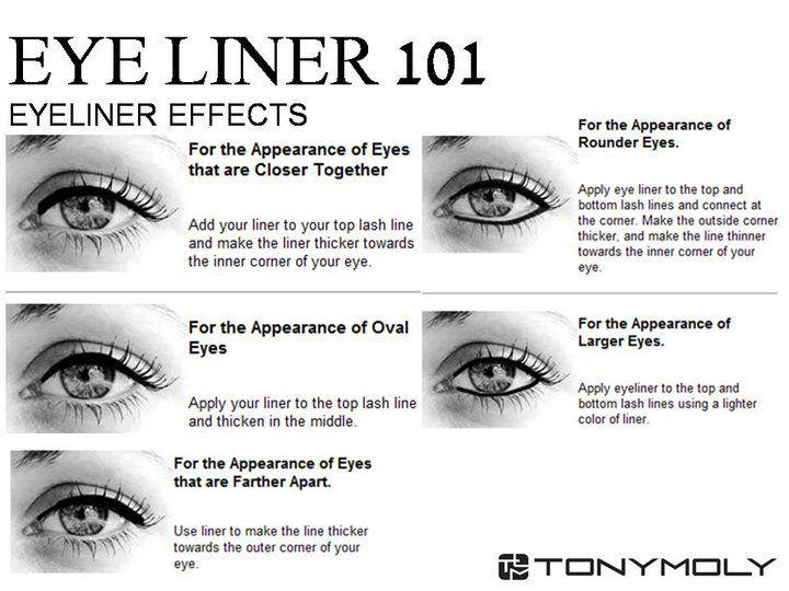 Eyeliner effects tutorial