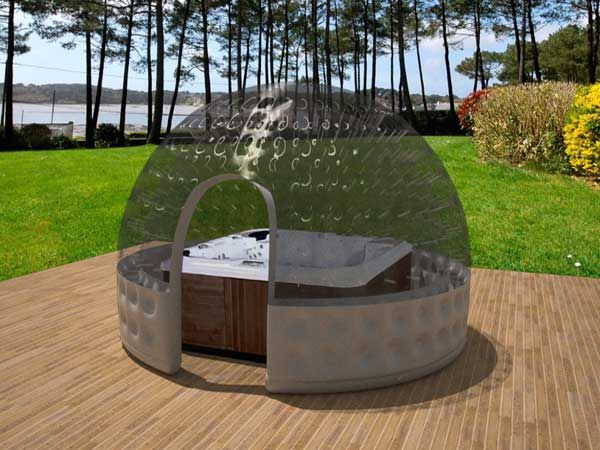 Abri spa jacuzzi ext rieur gonflable jacuzzi pinterest - Spa gonflable intex pas cher ...