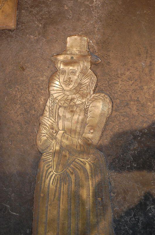 Brass of Wife of Josias Seyliard, Biddenden.