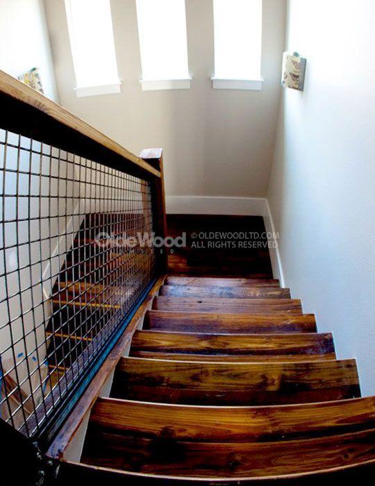 Best Reclaimed Wood Stair Parts Reclaimed Stair Treads Olde 640 x 480