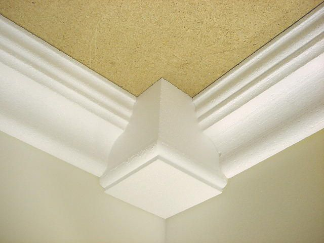 4 Quot Crown Molding With Corner Blocks Crown Molding The Next Home Crown Molding
