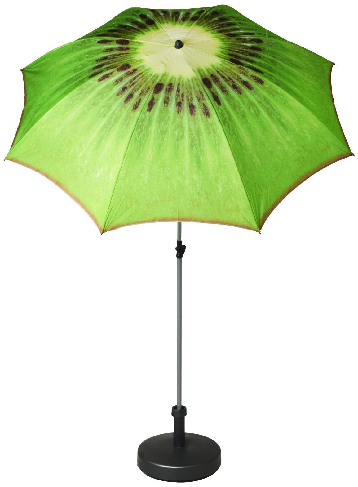 Sonnenschirm Im Kiwi Look Ausgefallener Schirm Fur Strand Und