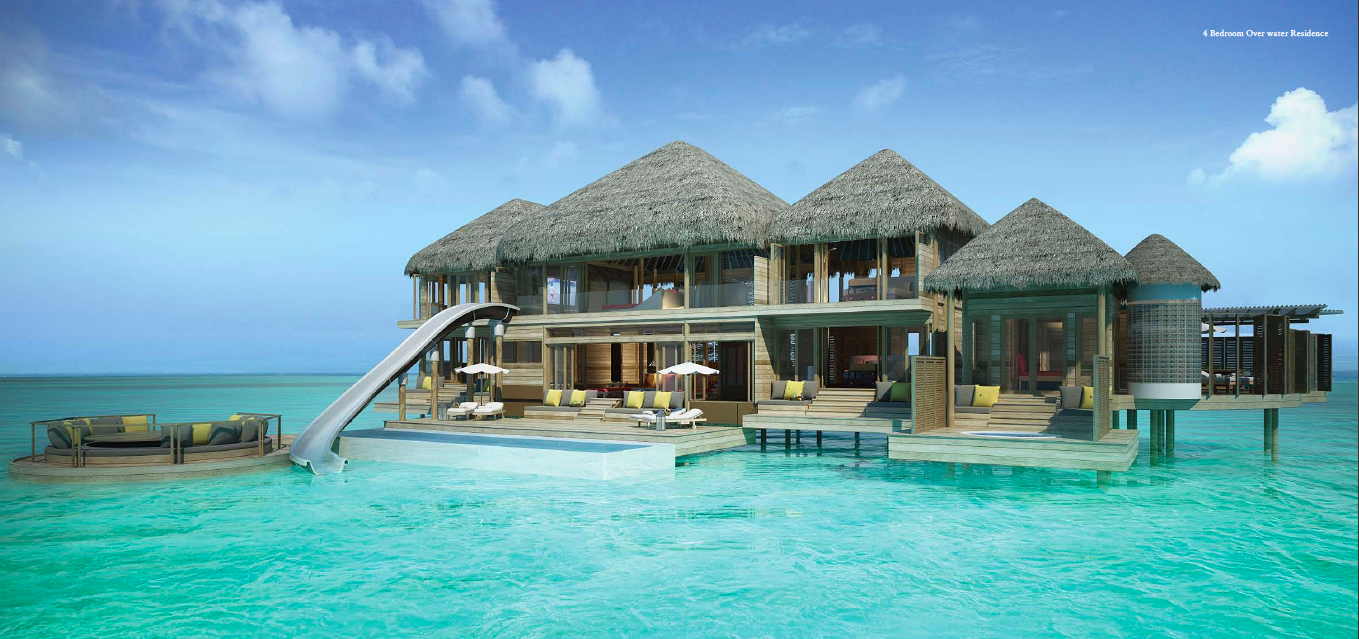 Surfs up in the maldives ocean maldives and villas Overwater bungalows fiji