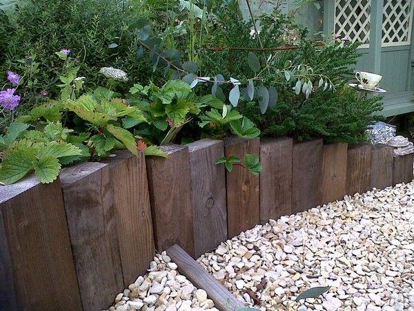 35 Incredible Stone Garden Decorations Ideas Garden Decor Yard Ideas Homedecor Care Stonepainting Ba Timber Garden Edging Wooden Garden Edging Diy Lawn