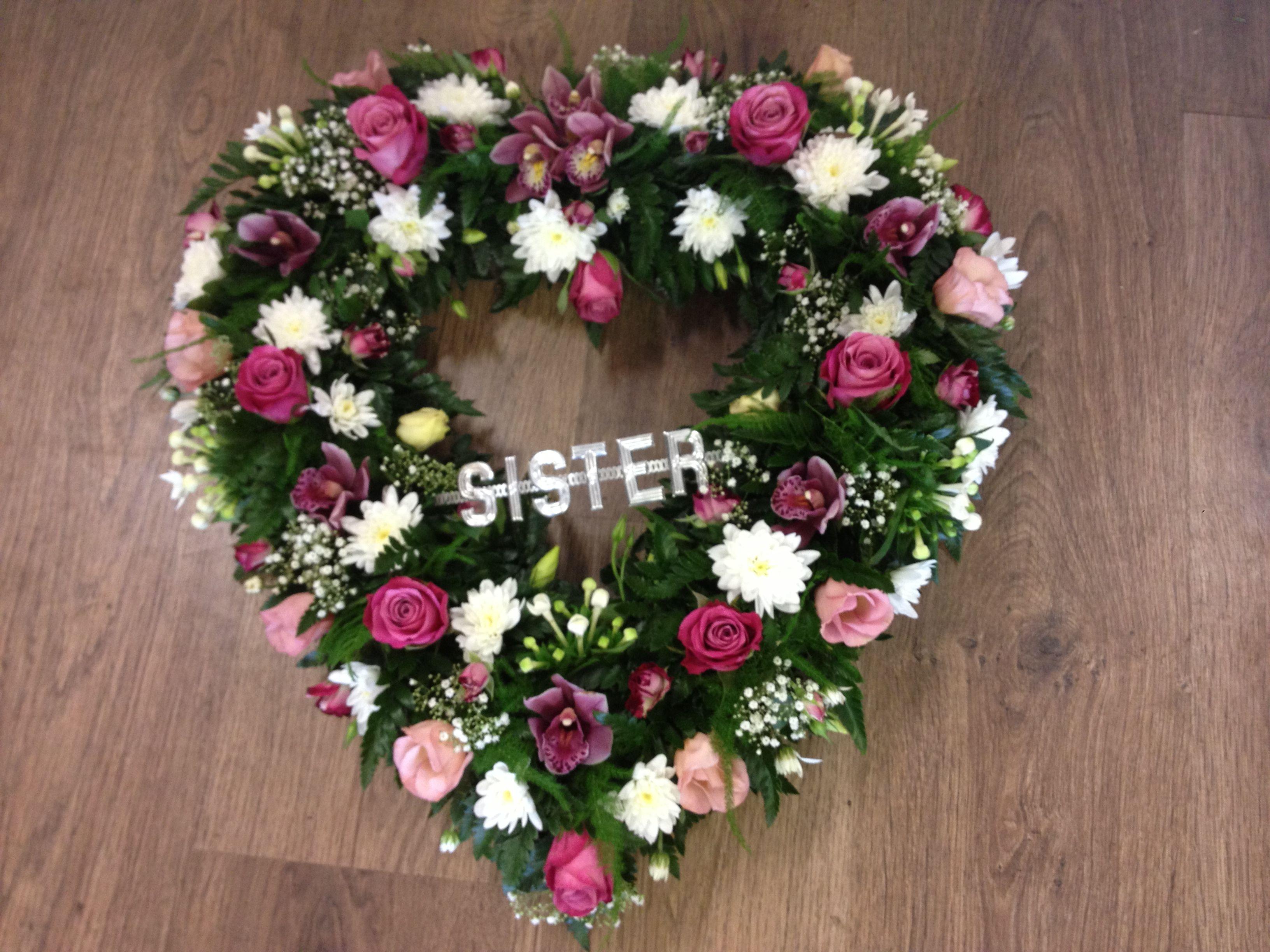 Heart shaped wreath crafts diy pinterest wreaths sympathy heart shaped wreath izmirmasajfo Gallery