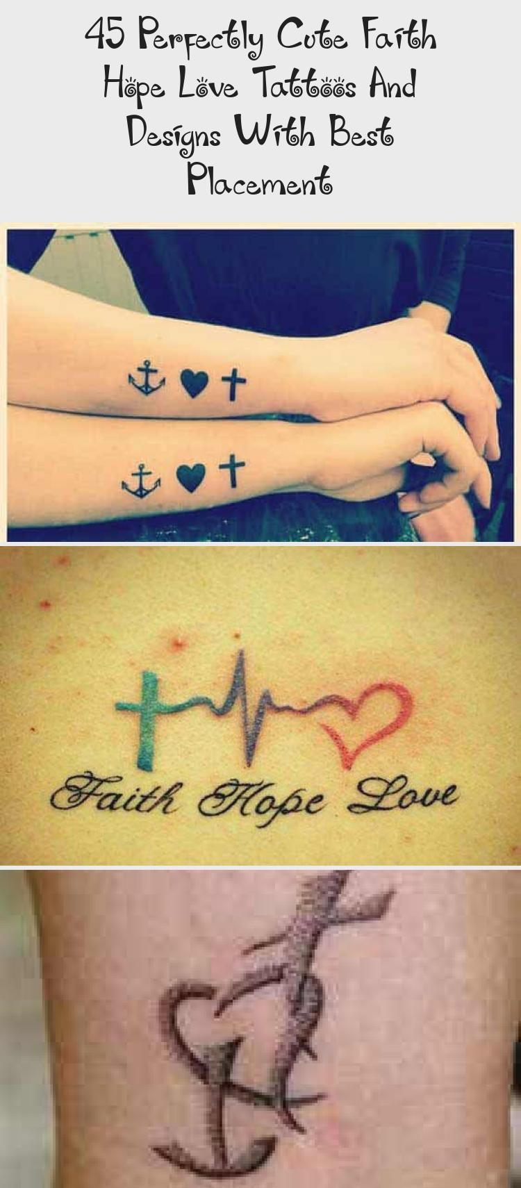 Small Cross Heart And Anchor Tattoo Designs On Inner Forearm Hearttattoobehindear Hearttattooankle Purpl In 2020 Love Wrist Tattoo Purple Heart Tattoos Hope Tattoo