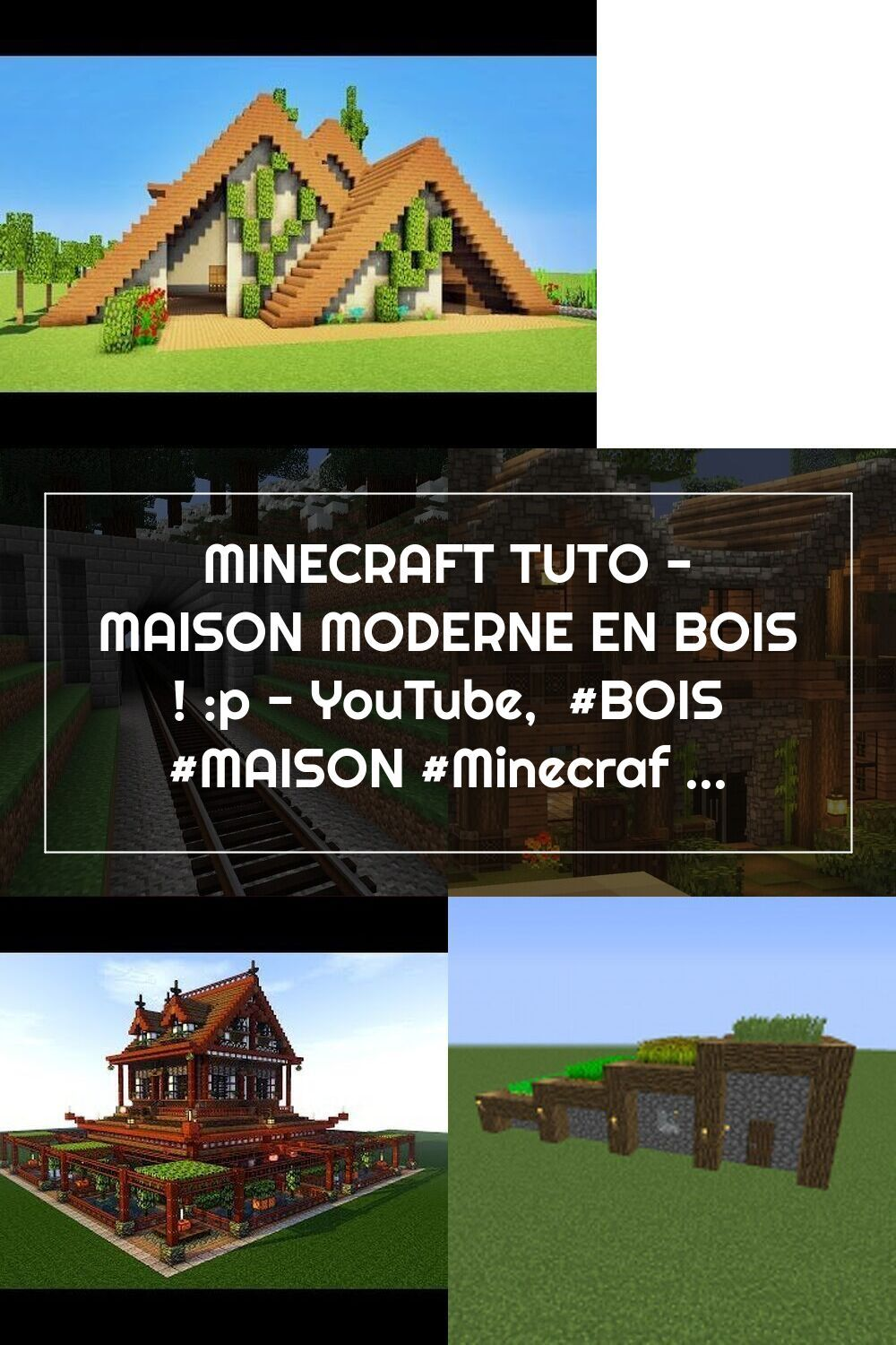 Minecraft Tuto Maison Moderne En Bois P Youtube Bois Maison Minecraft Minecraftmaison Moderne Tuto Youtu In 2020 House Styles Minecraft Houses Mansions