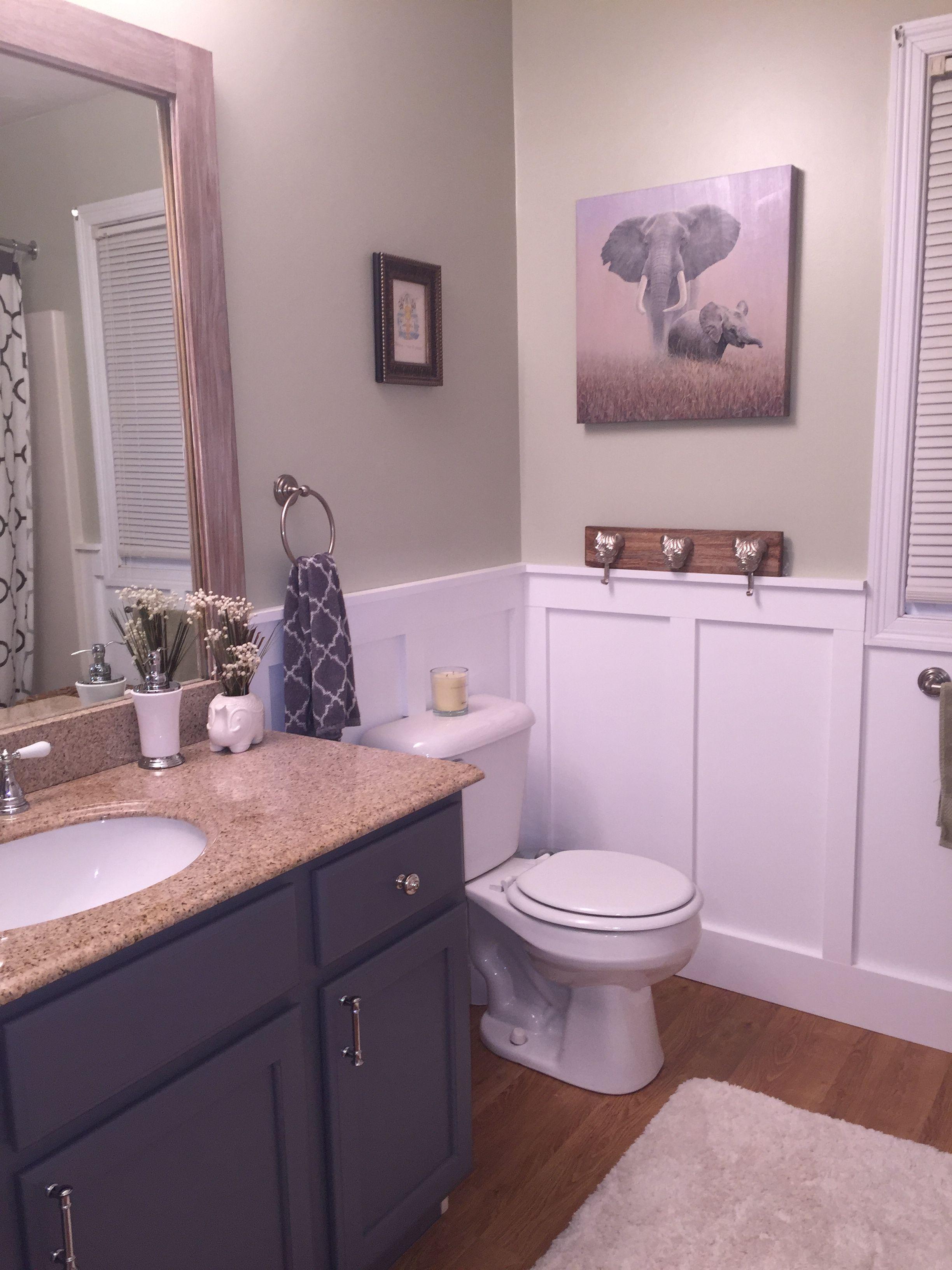 Wainscoting in small bathroom! | Small bathroom, Bathroom ...
